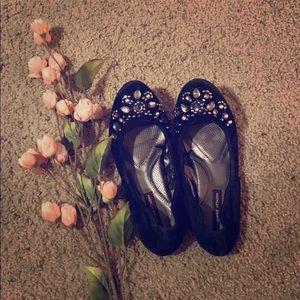 5/$25 Adrienne Vittadini Jeweled Flats